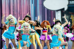Silvia Barrera dance group Royalty Free Stock Image