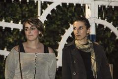 Silvia benedetti and dalila lesci Stock Images