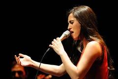 Silvia Perez Cruz band performs at Barts (Barcelona Arts on Stage) Stock Photos