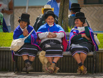 SILVIA, POPAYAN, COLOMBIA - November, 24: Guambiano indigenous p Royalty Free Stock Photography