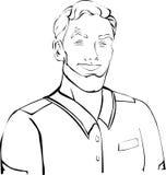 Silvicoltore, militare con l'acconciatura in rivestimento, camicia illustrazione di stock