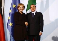 Silvio Berlusconi, Angela Merkel Obrazy Stock