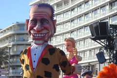 Silvio Berlusconi Bunga Bunga - carnaval de Nice Image libre de droits