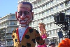 Silvio Berlusconi Bunga Bunga - karneval av Nice Royaltyfri Bild