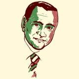 Silvio Berlusconi portrait stock photography