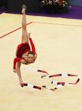 Silviya Miteva (Bulgaria) performs at World Cup Royalty Free Stock Photo