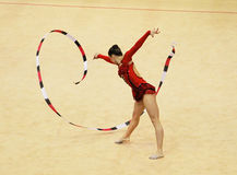 Silviya Miteva from Bulgaria performs at World Cup Stock Photo