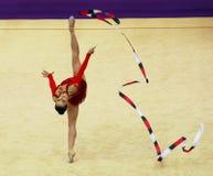 Silviya Miteva at Deriugina Cup Royalty Free Stock Images