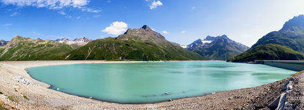 Silvreta reservoir Royalty Free Stock Images