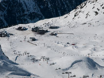 Silvretta竞技场滑雪胜地 图库摄影