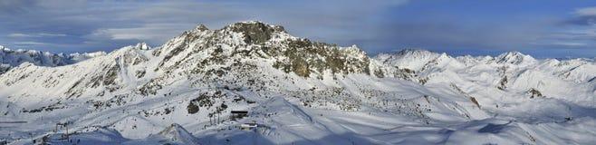 Silvretta滑雪竞技场 库存图片