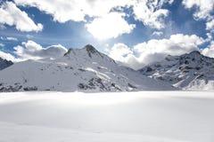 Silvretta湖 免版税库存图片