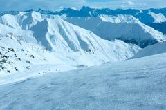 Silvretta-Alpen-Winteransicht (Österreich) Stockbilder