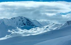 Silvretta-Alpen-Winteransicht (Österreich) Stockbild
