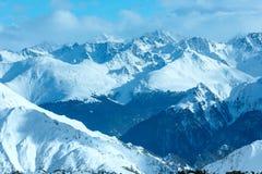 Silvretta-Alpen-Winteransicht (Österreich) Lizenzfreie Stockfotografie