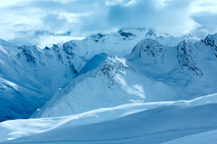 Silvretta-Alpen-Winteransicht (Österreich) Stockfoto