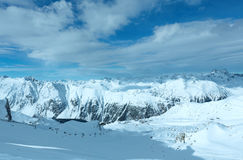 Silvretta-Alpen-Winteransicht (Österreich) Stockfotografie