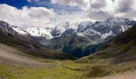Silvretta Alps mountain range Royalty Free Stock Images
