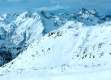 Silvretta Alps winter view (Austria). Royalty Free Stock Photography