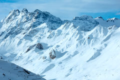 Silvretta Alps winter view (Austria). Royalty Free Stock Images