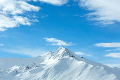 Silvretta Alps winter view (Austria). Stock Photos