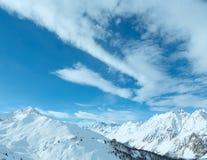 Silvretta Alps winter view (Austria). Stock Photography