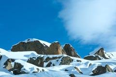 Silvretta Alps winter view (Austria). Royalty Free Stock Photography