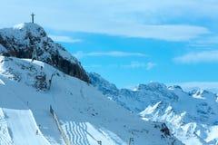 Silvretta Alps winter view (Austria). Stock Images