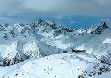 Silvretta Alps winter view (Austria). Royalty Free Stock Image