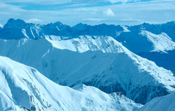 Silvretta Alps zimy widok (Austria) Zdjęcie Stock