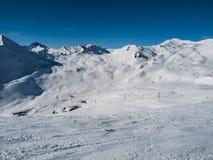 Silvretta arena ski resort Stock Photography