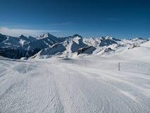 Silvretta areny ośrodek narciarski Zdjęcie Stock