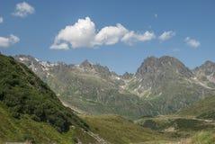 Silvretta hoch alp strasse Royalty Free Stock Images