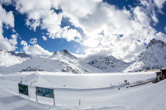 Silvretta Lake Royalty Free Stock Photo