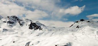 Silvretta mountains in Austria. Silvretta mountains in the ski resort of Gaschurn in western Austria Royalty Free Stock Photo
