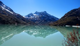 Silvretta reservoir royalty free stock photos