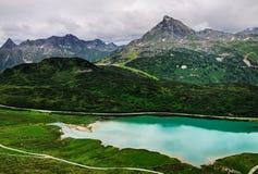 Mountain湖, Silvretta,提洛尔,奥地利 库存照片