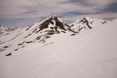 Silvretta (Switzerland). Nice winter scenery in Swiss mountains Royalty Free Stock Photography