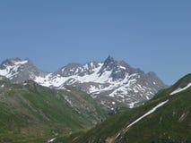 Silvretta wysoko Alpejska przepustka w Austria fotografia stock