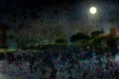 silvrig moon Royaltyfri Fotografi