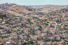 Silwan邻里在耶路撒冷,以色列 免版税库存照片