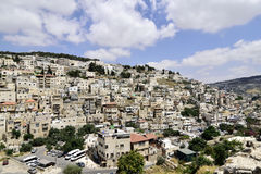 Silwan district of East Jerusalem. Royalty Free Stock Images