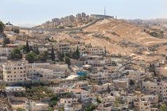 Silwan neighborhood in Jerusalem, Israel. Royalty Free Stock Photo