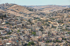 Silwan neighborhood in Jerusalem, Israel. Royalty Free Stock Photos