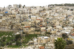 Silwan Village in Jerusalem. Stock Images