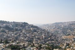 Silwan Village in Jerusalem. Royalty Free Stock Images
