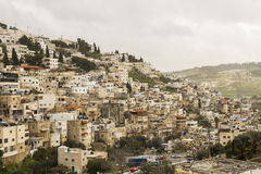 Silwan Village in Jerusalem. Stock Image