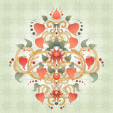 Simétricamente elemento floral para el modelo del diseño Imágenes de archivo libres de regalías