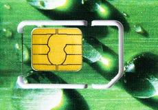 sim карточки зеленое Стоковая Фотография
