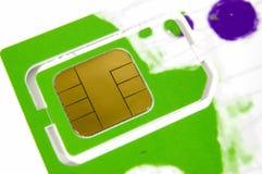 sim карточки Стоковая Фотография
